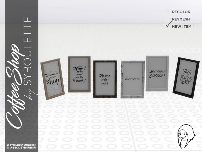 CoffeeShop Set Preview Welcomeframe