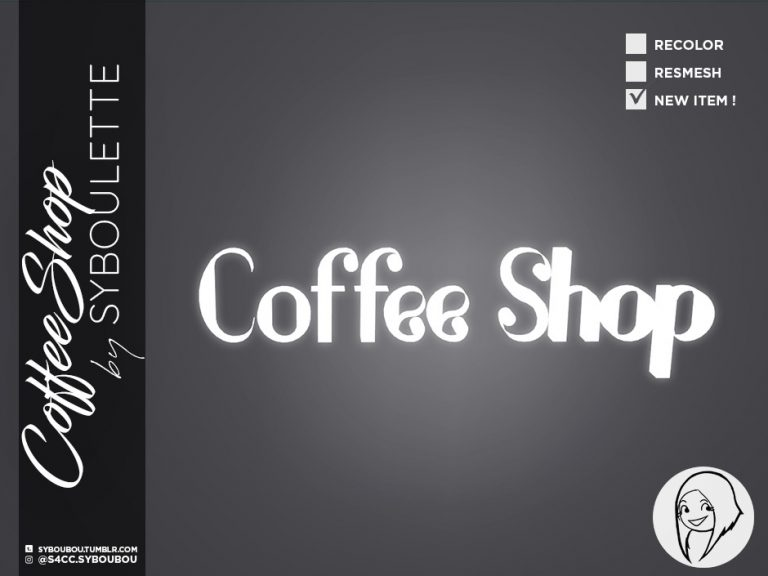 CoffeeShop Set Preview neon sign