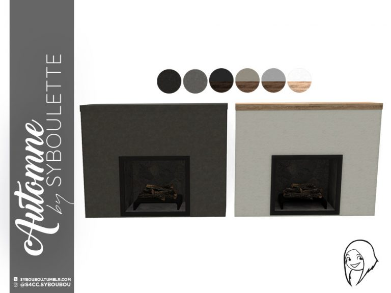 Automne Set Preview fireplace