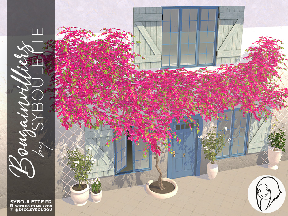 Bougainvilliers set preview WIP