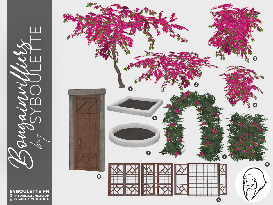 Bougainvilliers set preview5b